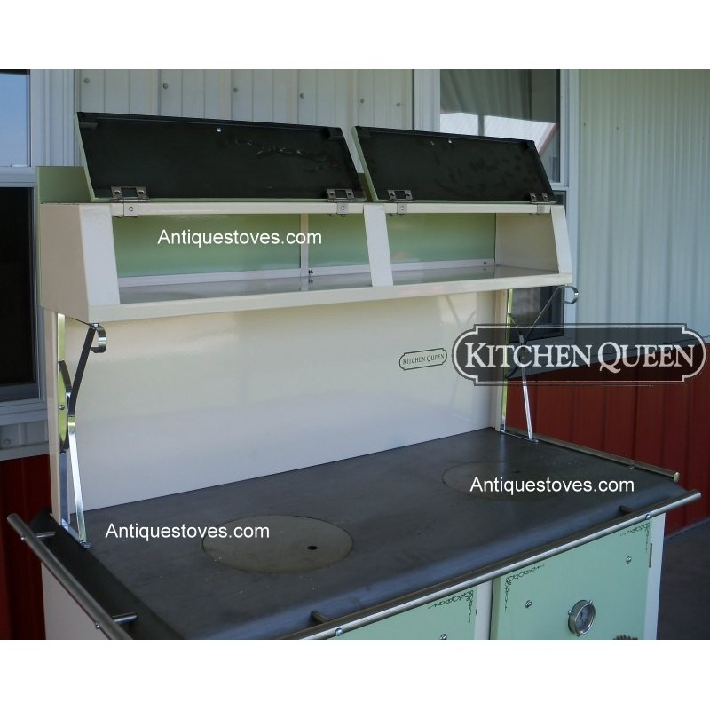 ... Kitchen Queen Wood Cook Stove 480 Green and Cream ... - Kitchen Queen, Wood Cook Stove, Green And Cream Cook Stove